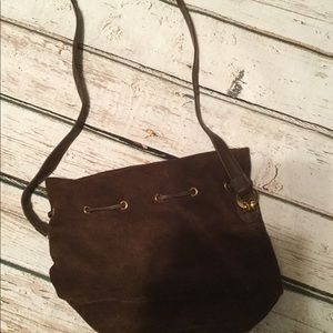 Nine West Brown Suede Leather Purse